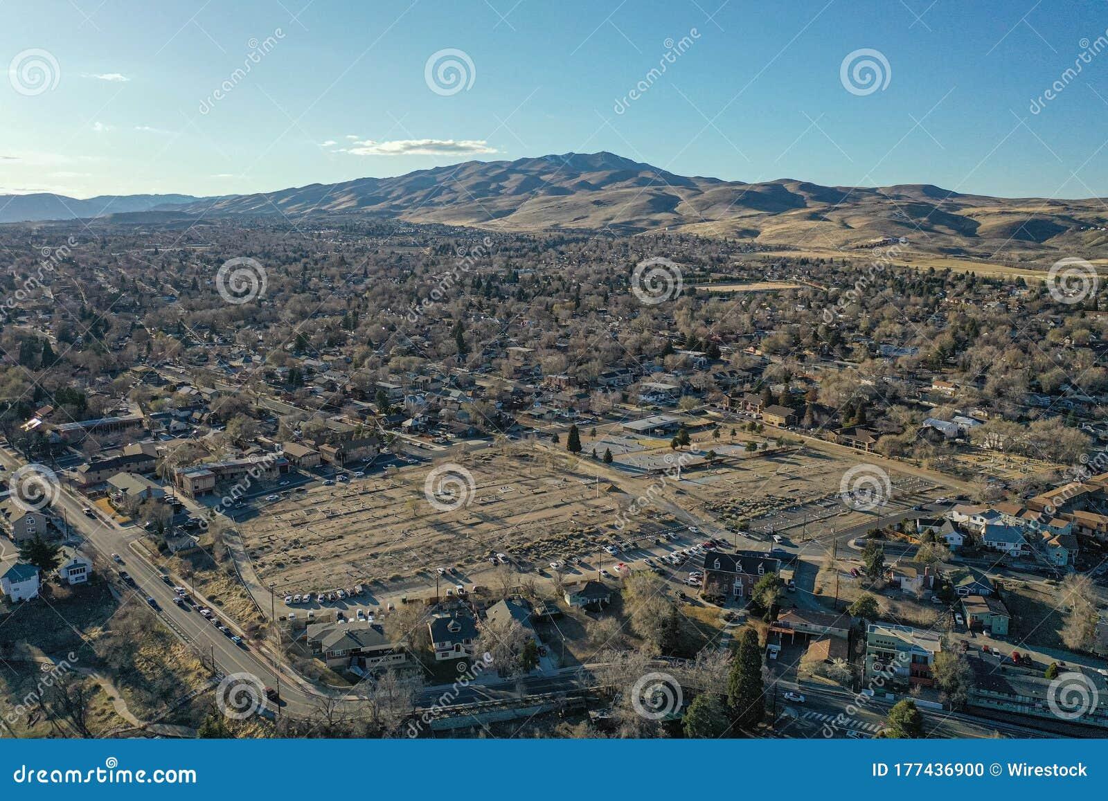 Reno, Nevada S Historic Hillside Cemetery With Peavine ...