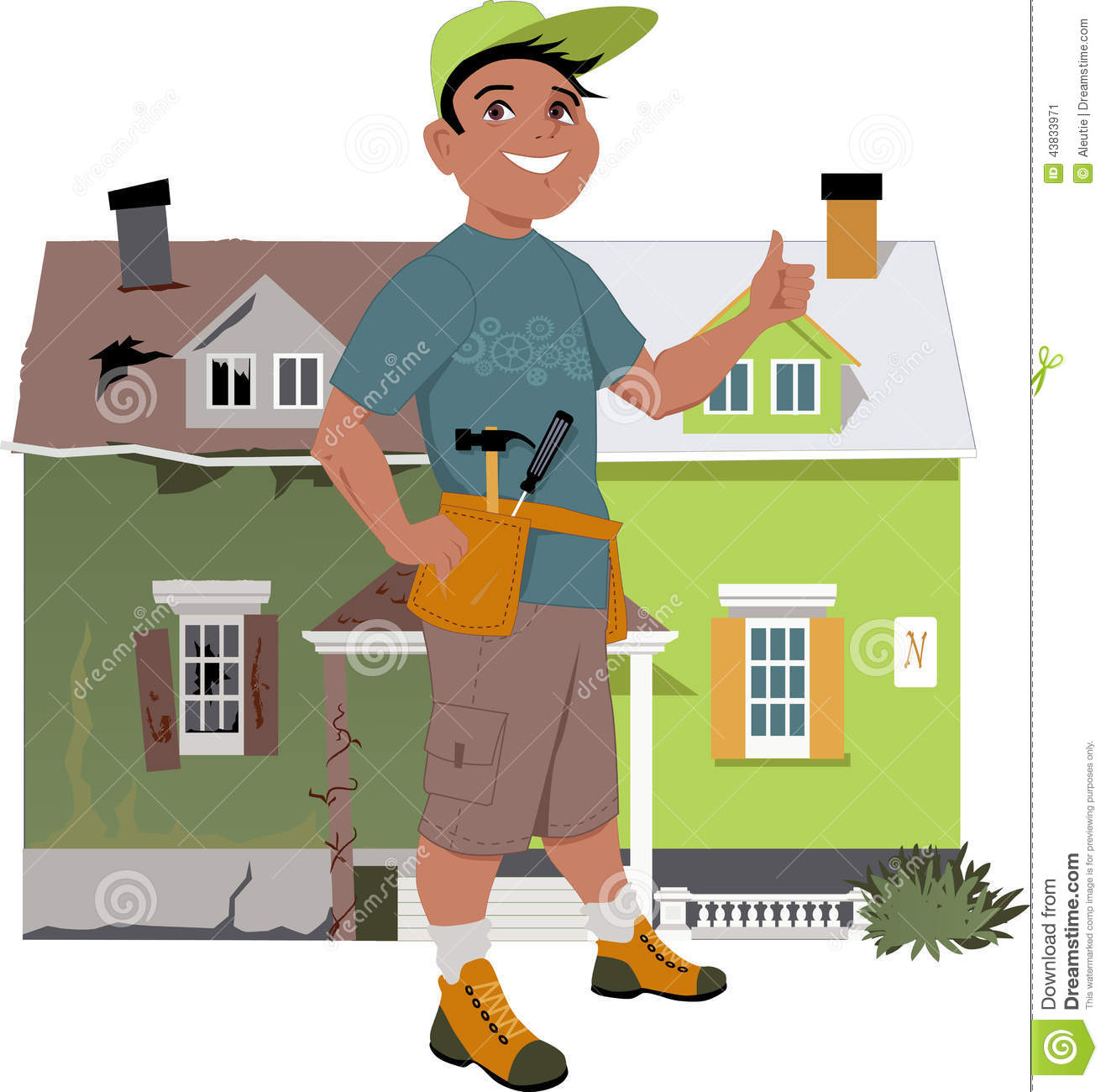 Renovate A House Stock Vector. Image Of Person, Home