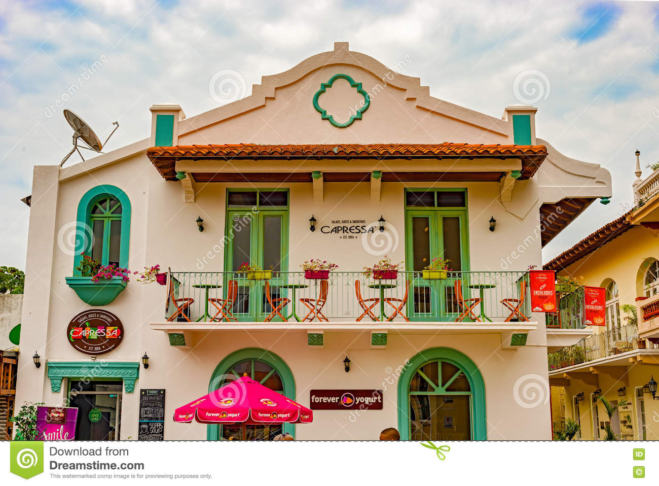 Renovated Old Colonial House In Casco Viejo In Panama City Editorial Image Image Of Commercial House 73613085
