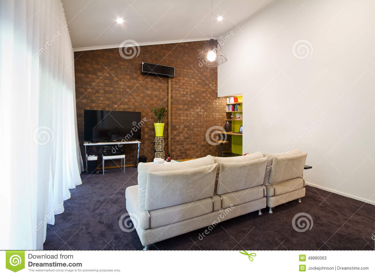 70s Apartment Brick Exposed Living Retro Room ... Part 94
