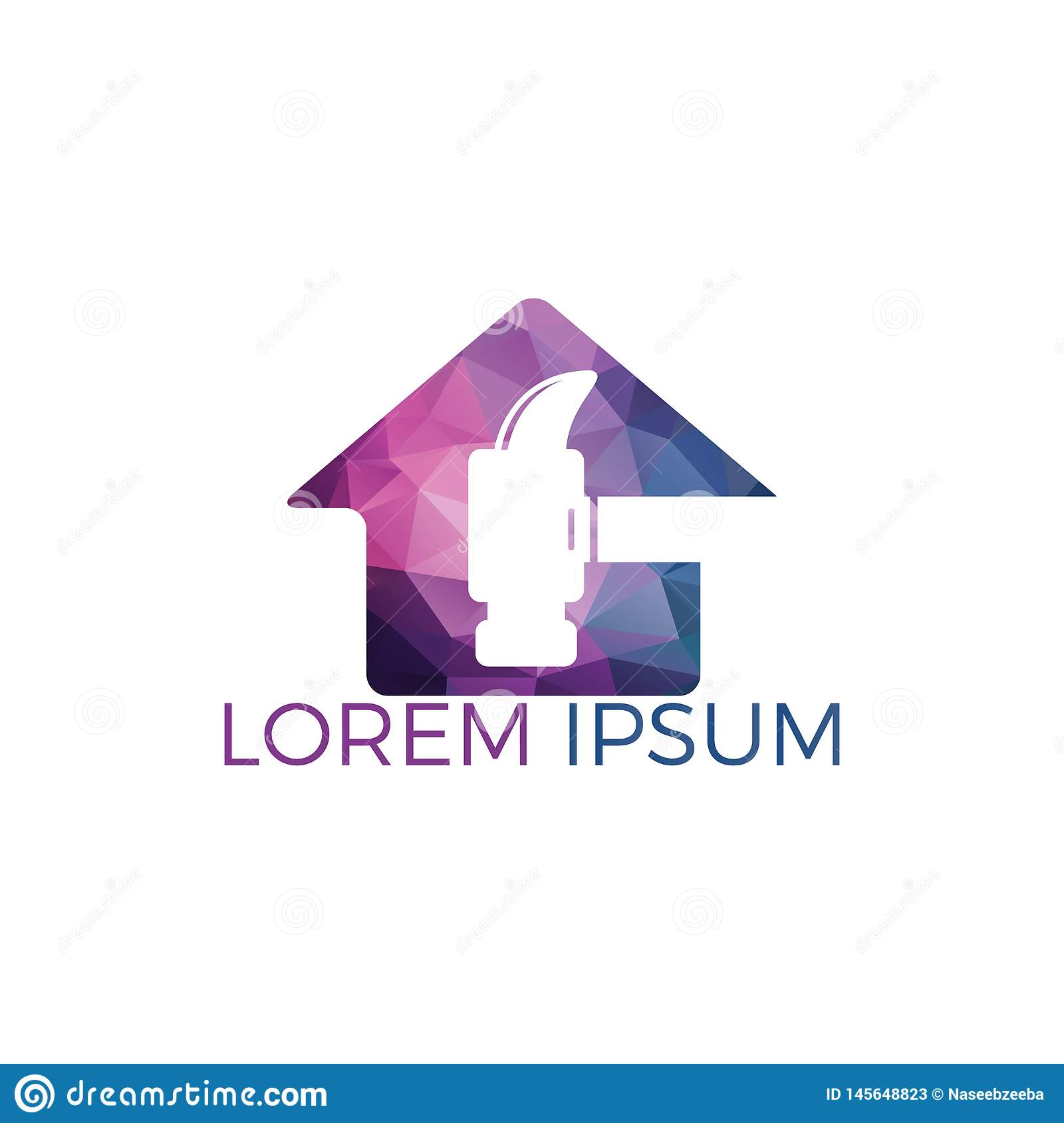 Hammer With Home Logo Design Stock Vector Illustration Of