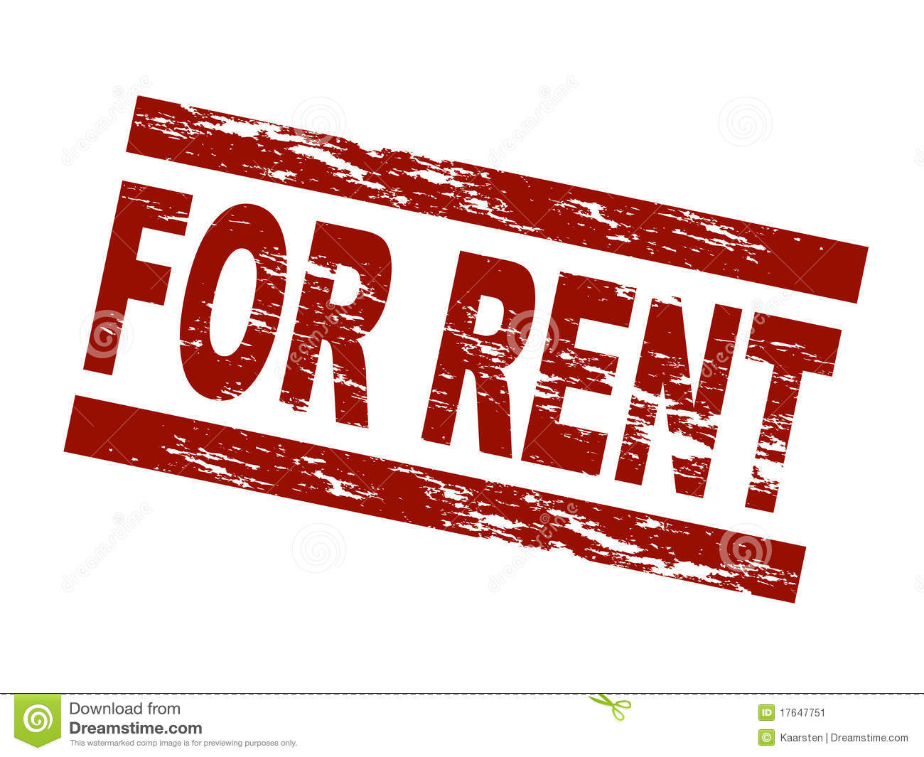 For Rent Stock Image - Image: 17647751