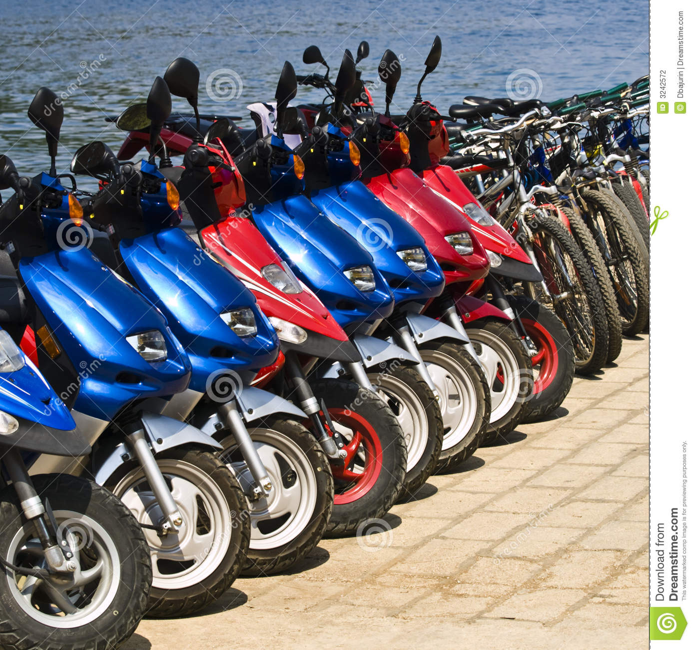 Rent a bike stock photography image 3242572 Motor cycle rentals