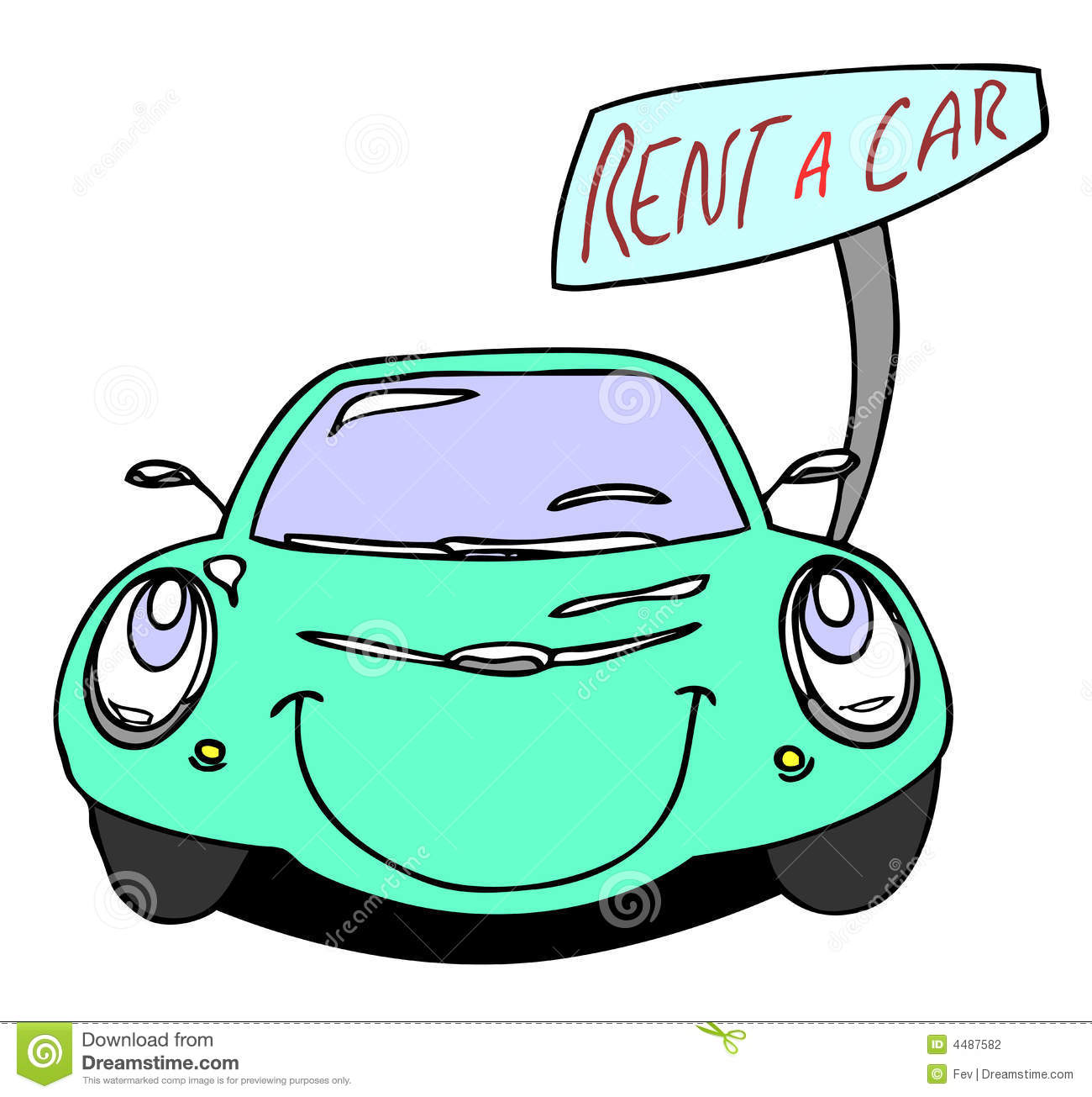 Rental Cars: Rent A Car Stock Vector. Illustration Of Diesel, Exhaust