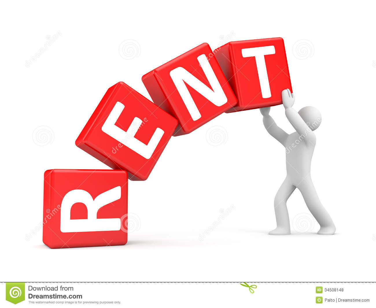 Rent Metaphor Stock Illustration Image Of Agent Mortgage