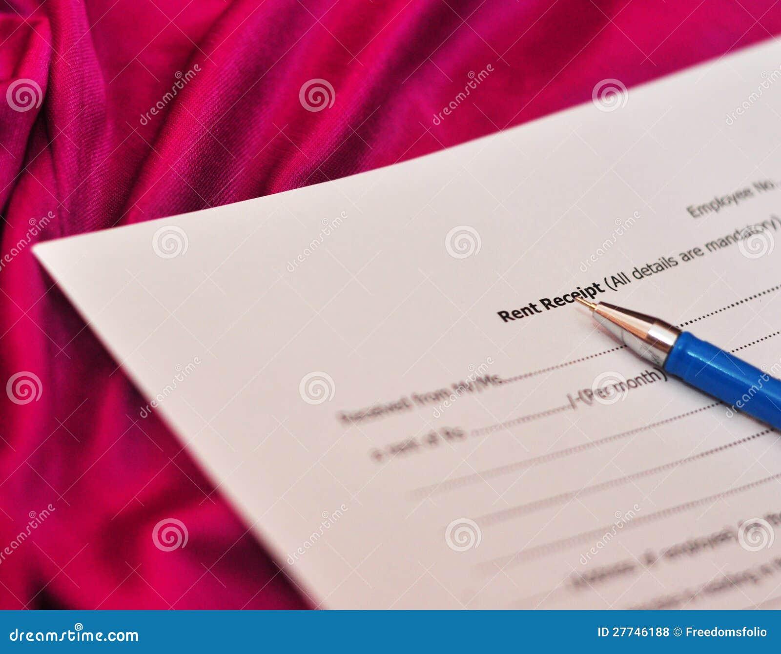 rent receipt form royalty stock photos image 27746188 rent receipt form