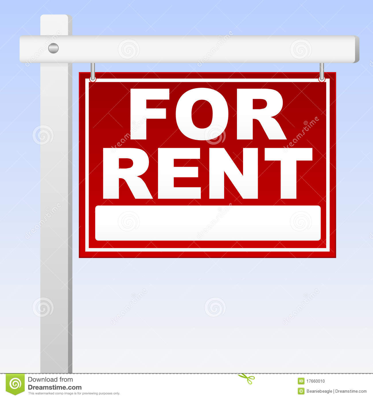 For Rwnt: For Rent Sign Stock Photo