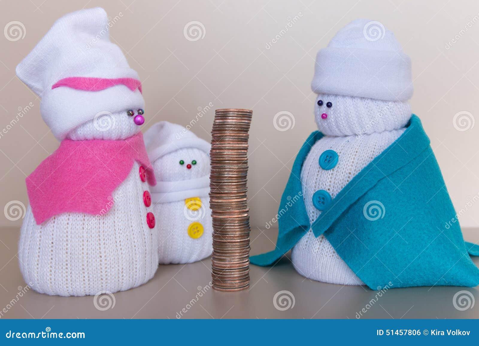 Renta grande de una familia de los muñecos de nieve