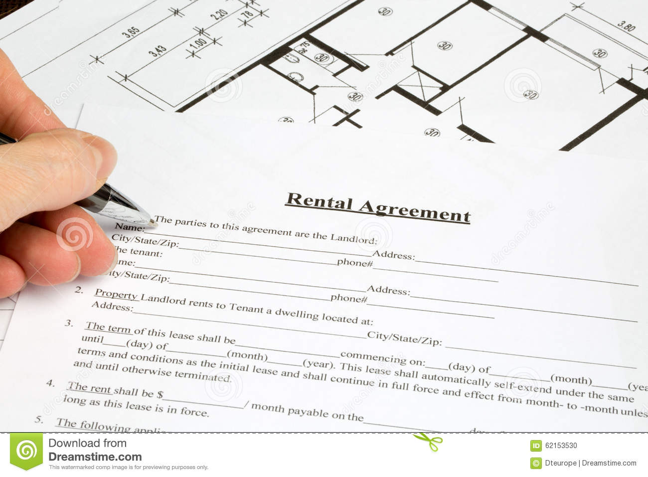 Thumbs Dreamstime Com Z Rental Agreement Paper For