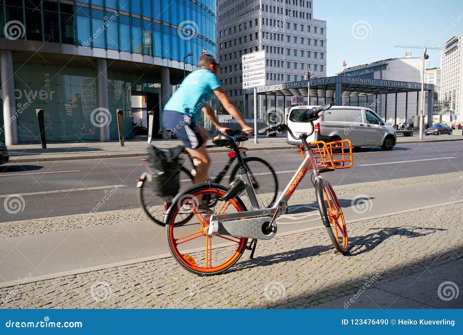 Rental bike on Potsdamer Platz in Berlin