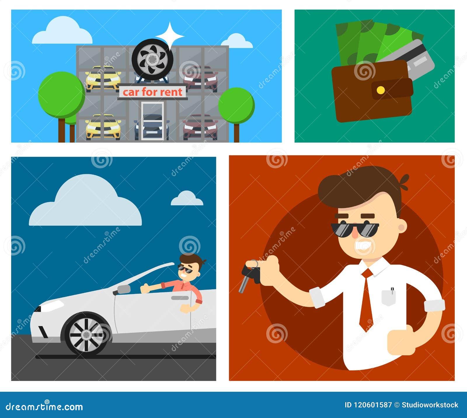 Rental Car Banners Stock Illustration Illustration Of Hire 120601587