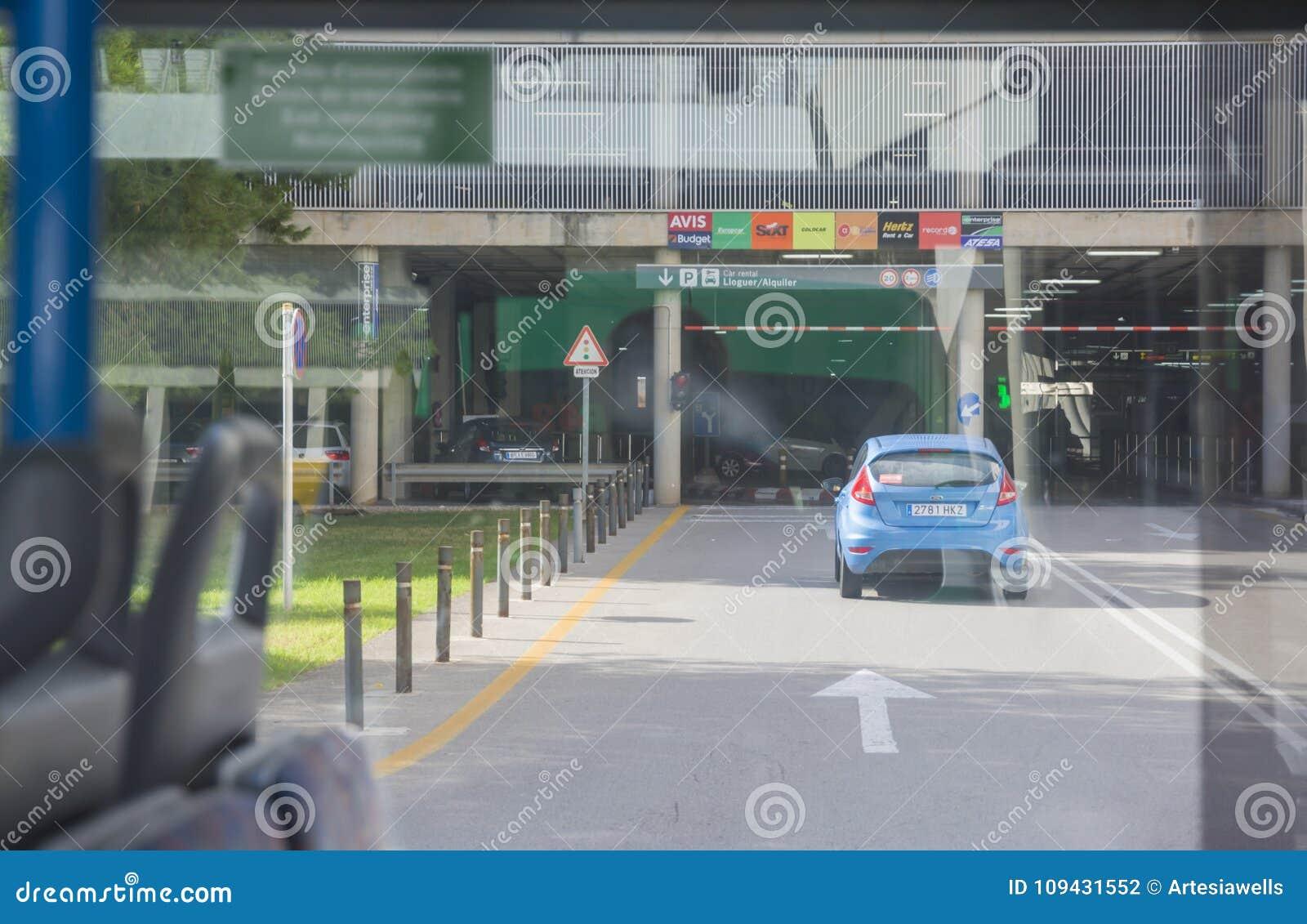 Rental Car Returned To Airport Parking Garage Editorial