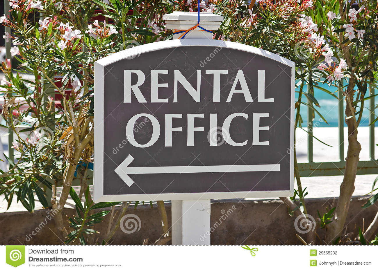 rental office sign stock photography image 29665232