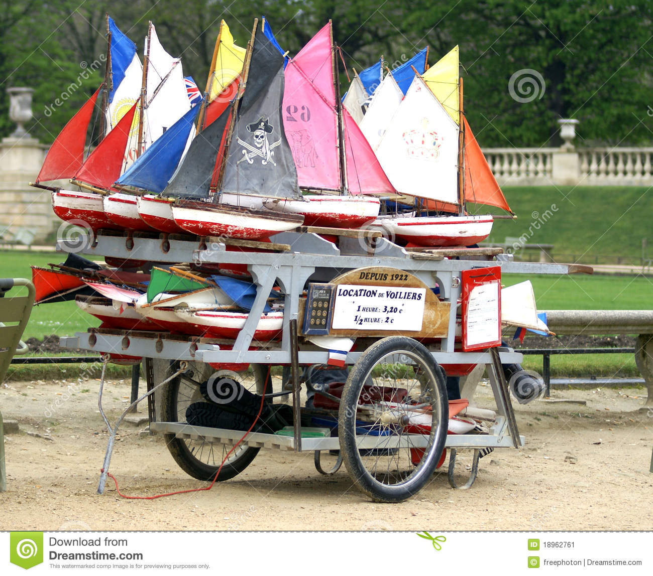 Rental Of Toy Boats In Jardin Du Luxembourg Paris Editorial Photo