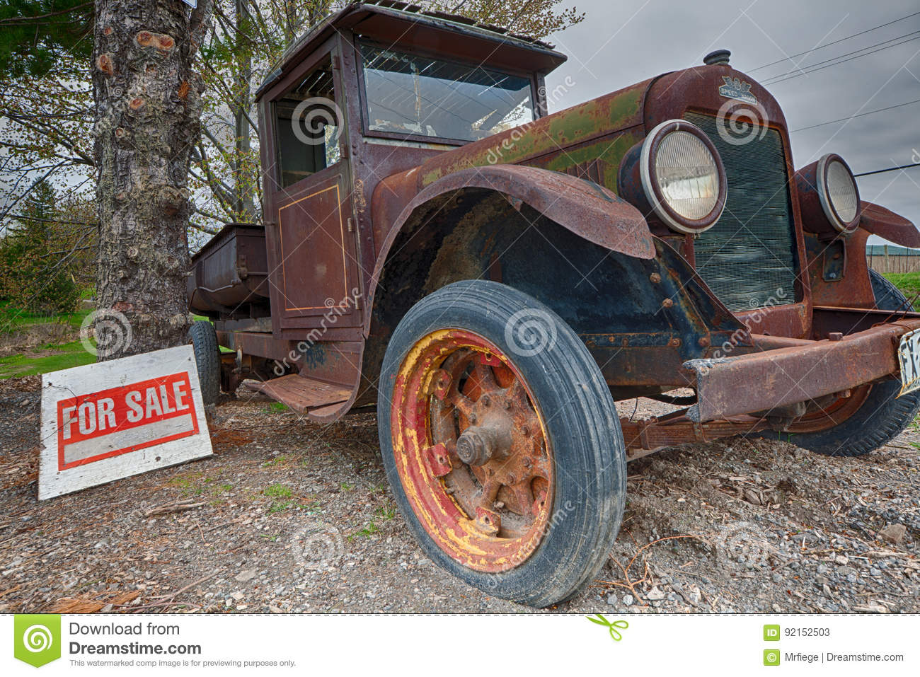 REO Speed Wagon editorial stock photo  Image of wind - 92152503