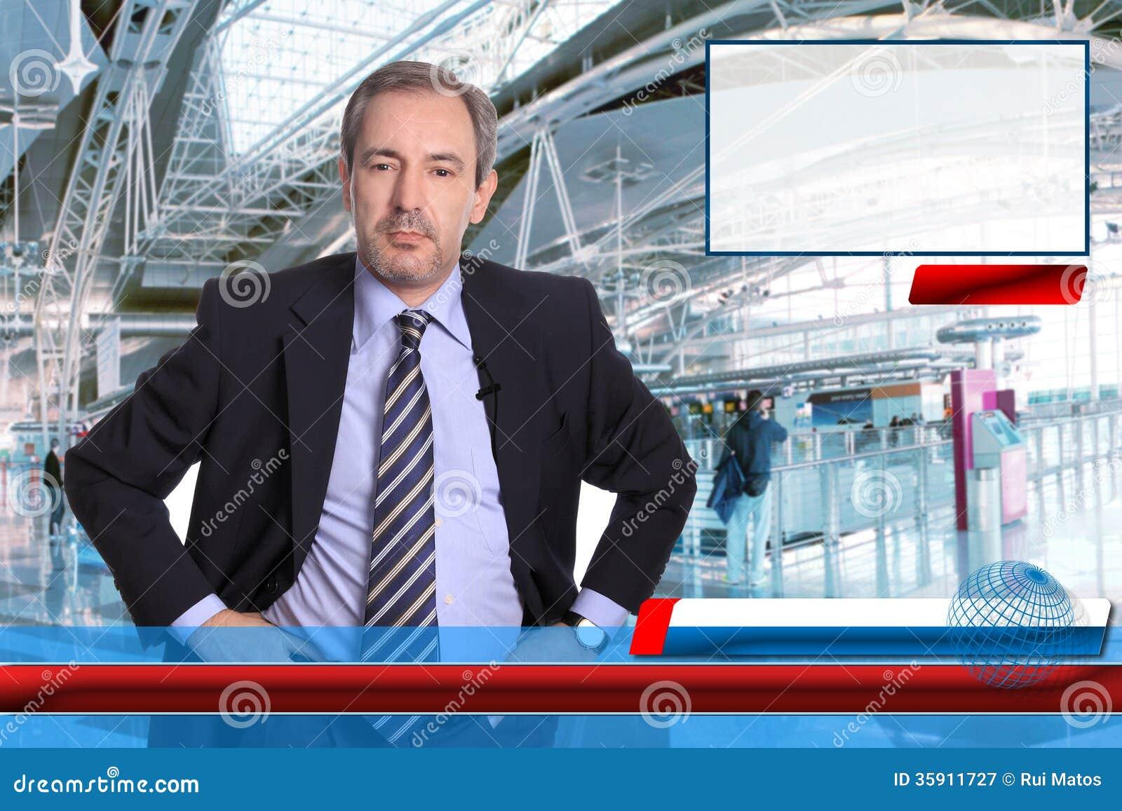 Repórter da notícia da tevê