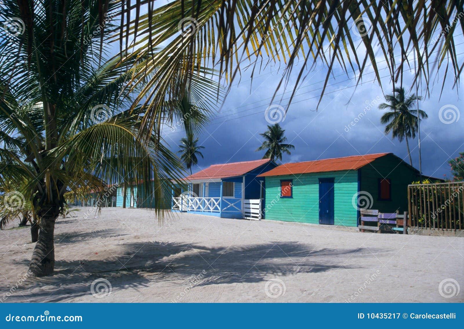 República Dominicana das palmeiras da vila do console de Saona