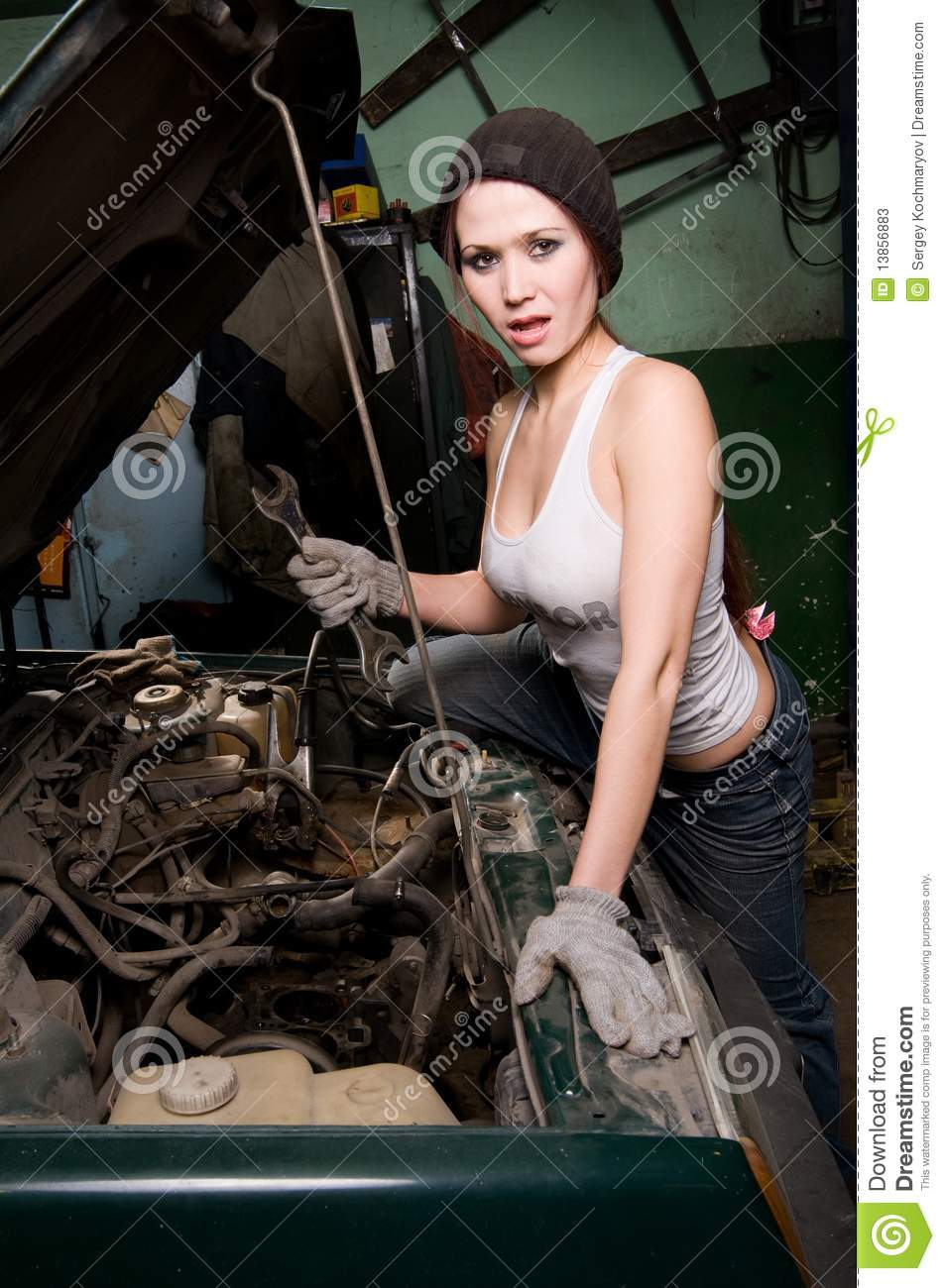 Repair Stock Image Image Of Girl Work Skill Engine