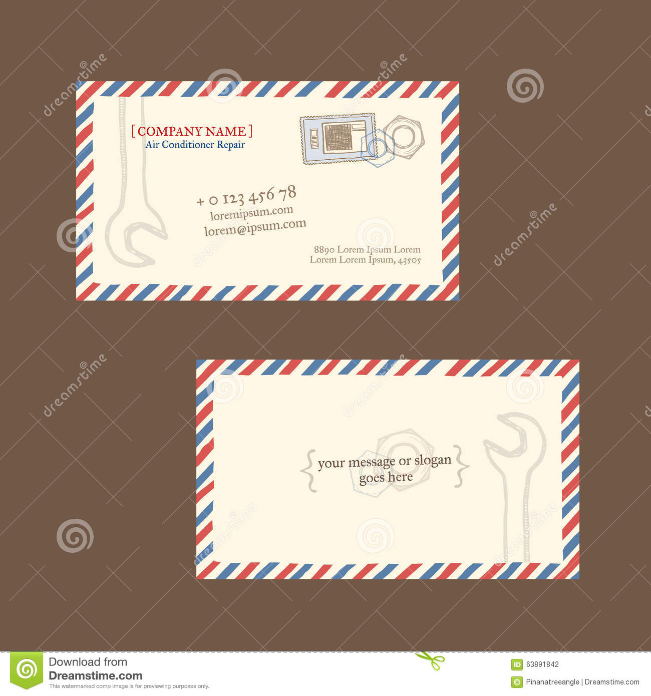 Repair Business Card Vector Template Stock Vector - Illustration of ...