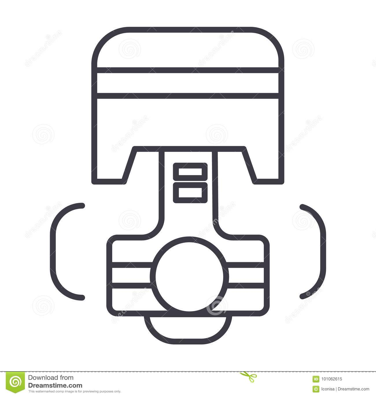 WRG-3991] Car Engine Piston Diagram