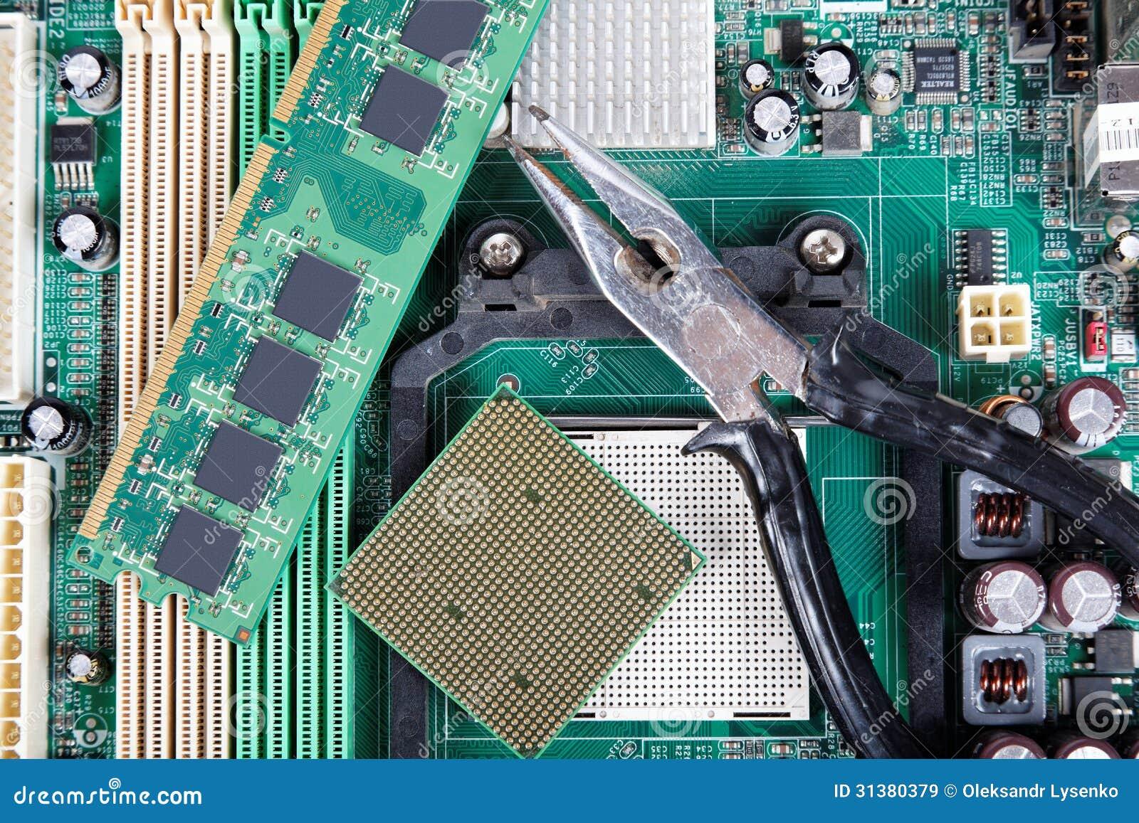 Repair Of Computer Equipment Stock Image - Image of ...