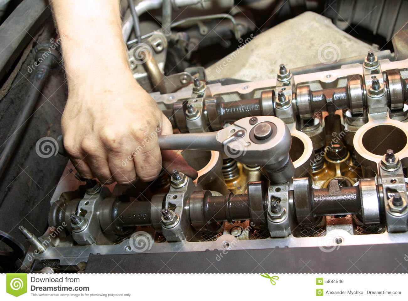 Repair Of The Engine Royalty Free Stock Image Image 5884546