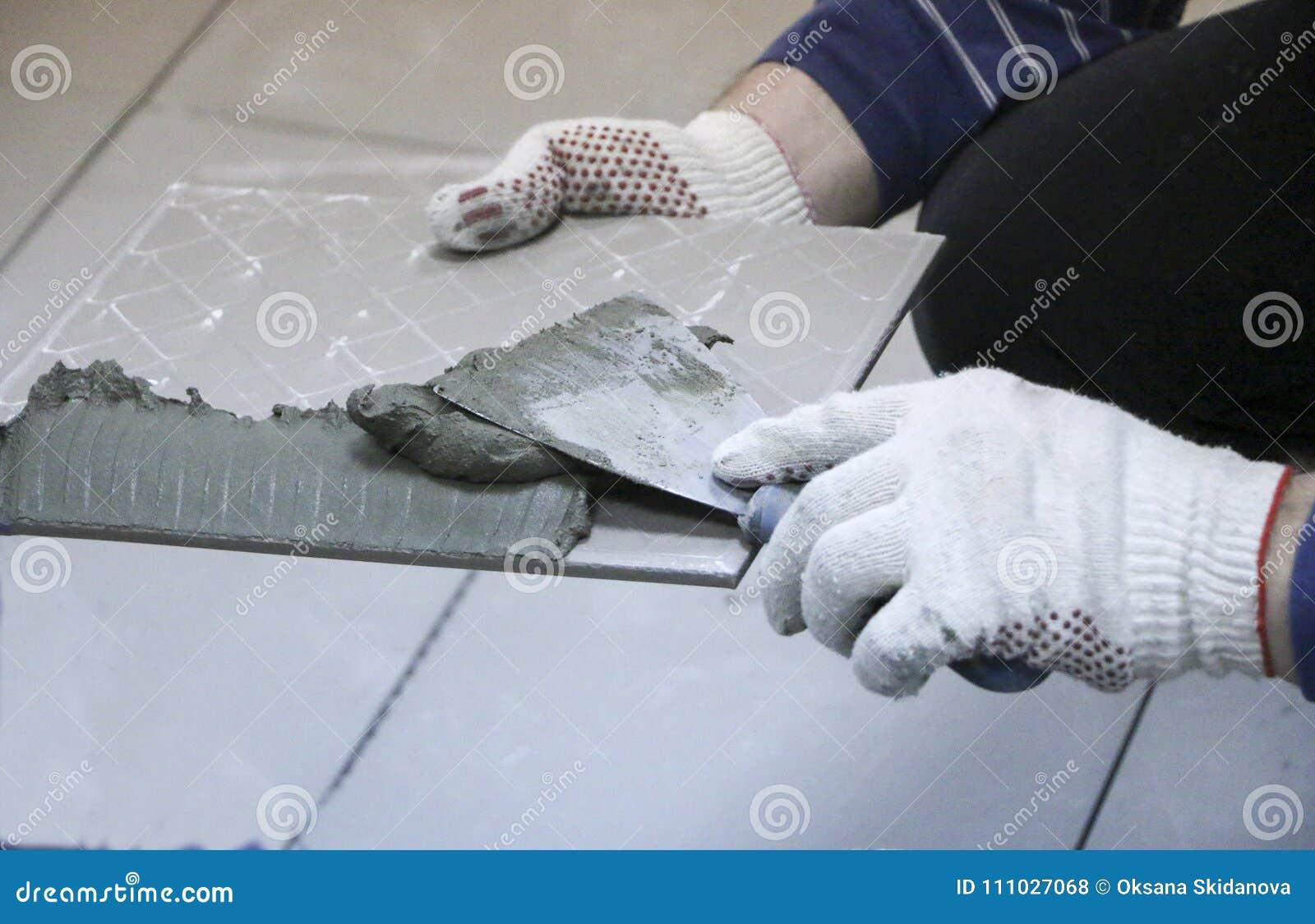 Repair Interior Decoration Laying Of Floor Ceramic Tiles Mens