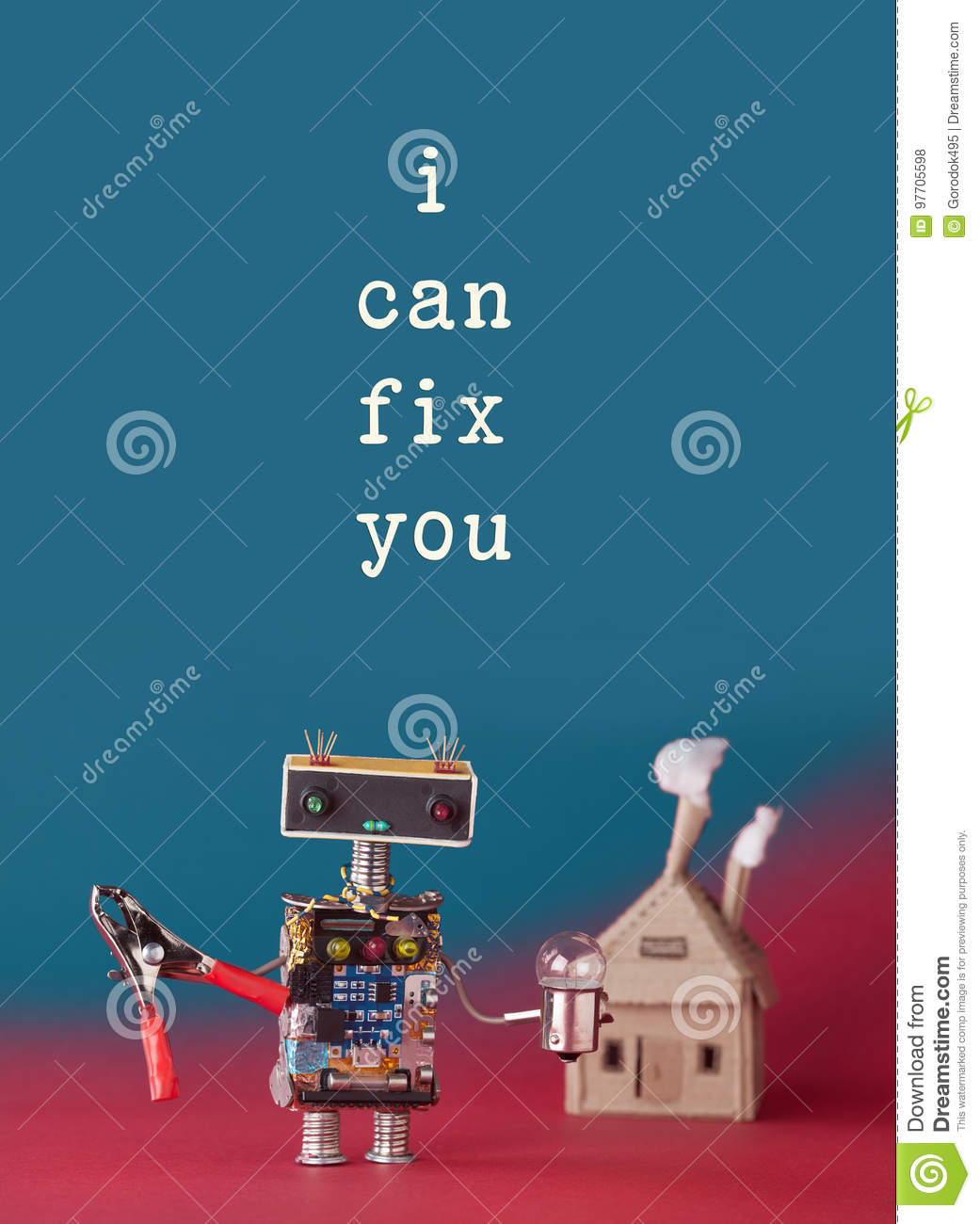 Repair Maintenance Concept Friendly House Master Robot Handyman