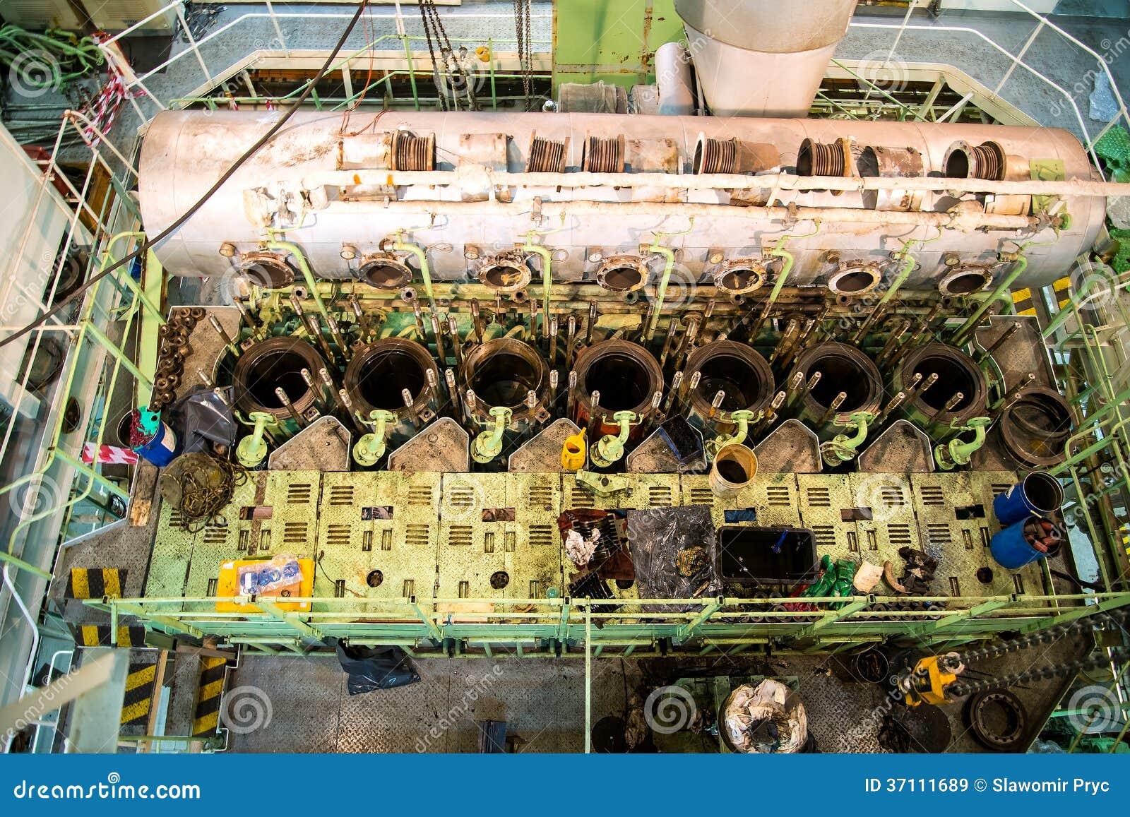Repair of marine engine stock image  Image of marine - 37111689