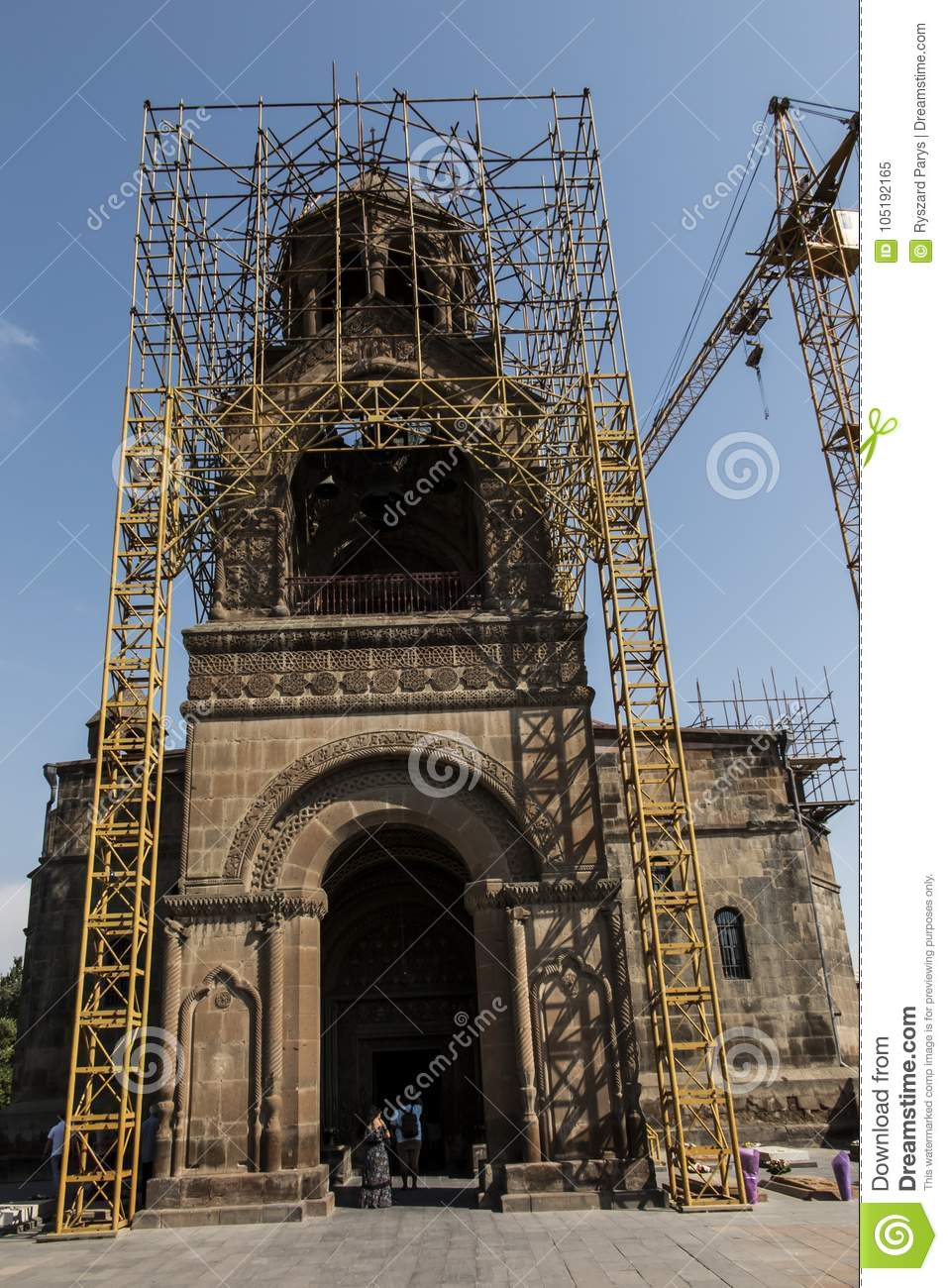 Repair Of The Tower Of The Oldest Cathedral In The World