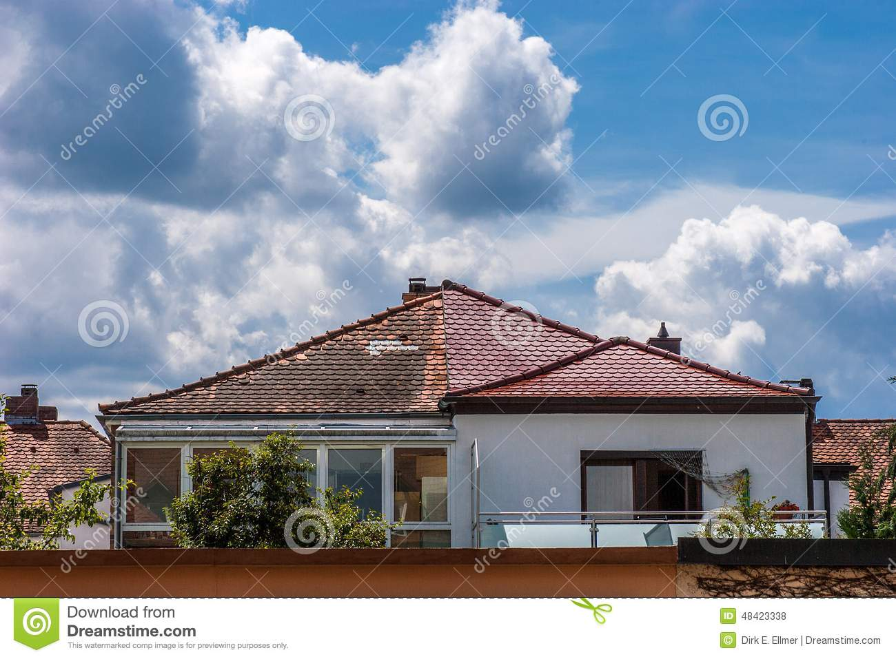 Repairing a roof stock photo image 48423338 for Roof right