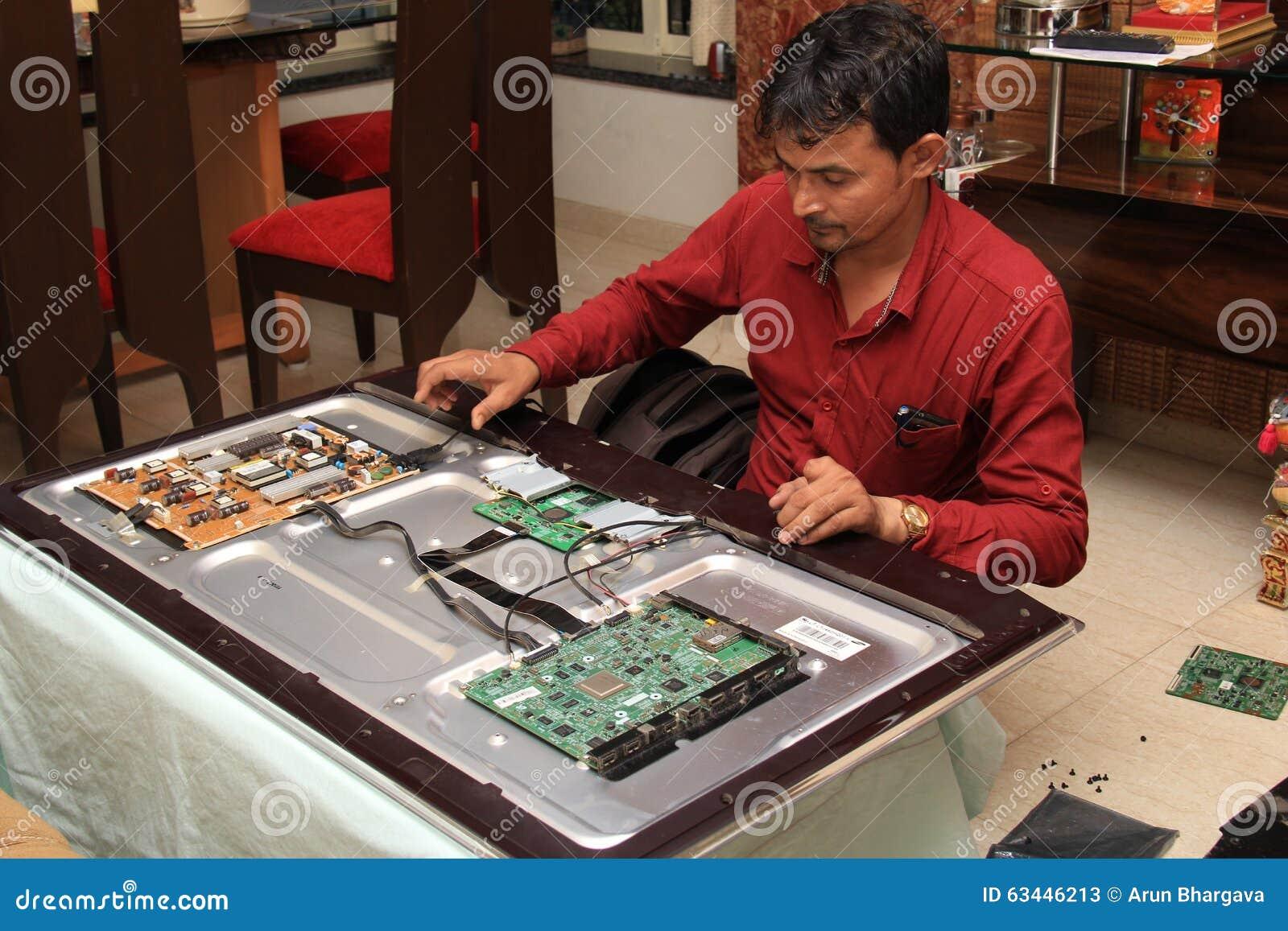 Repairing a television