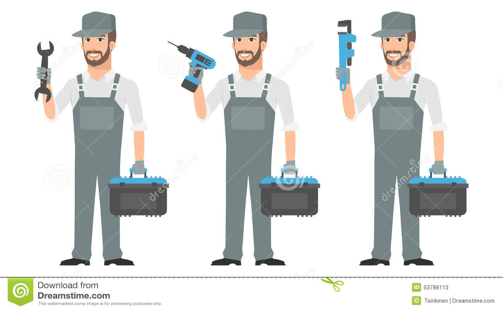 Repairman mienia narzędzi wyrwania śrubokręt