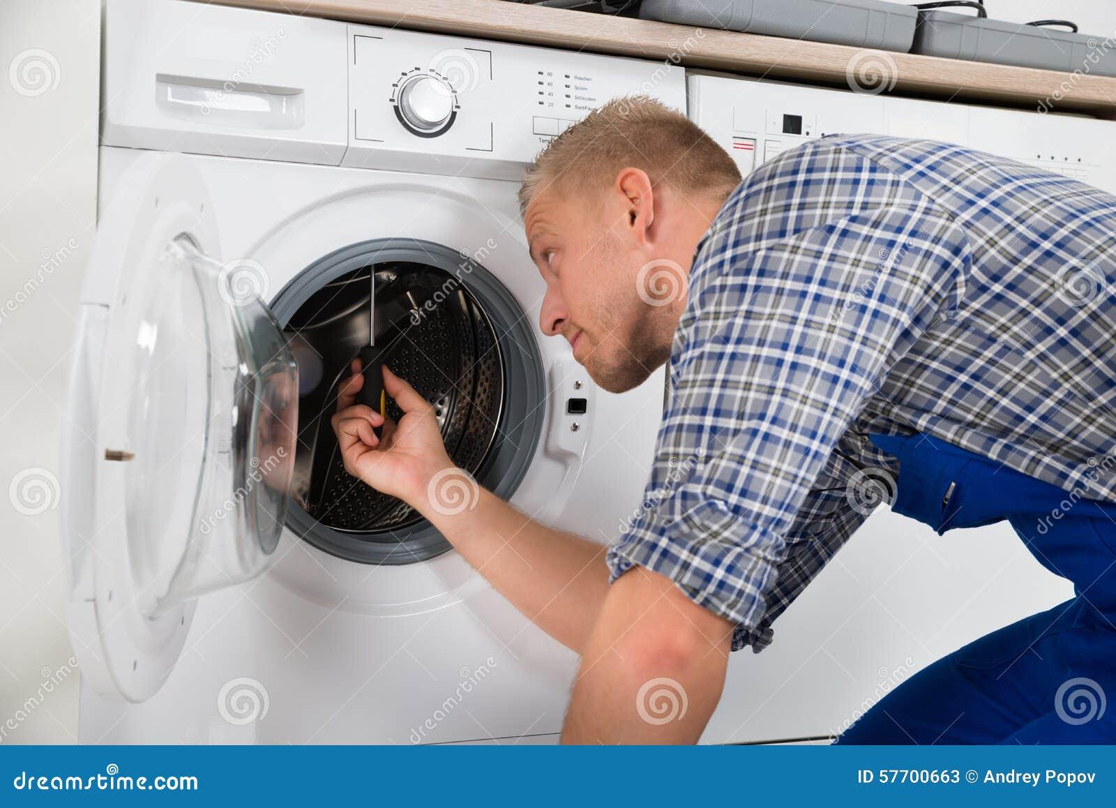 repairman washer machine