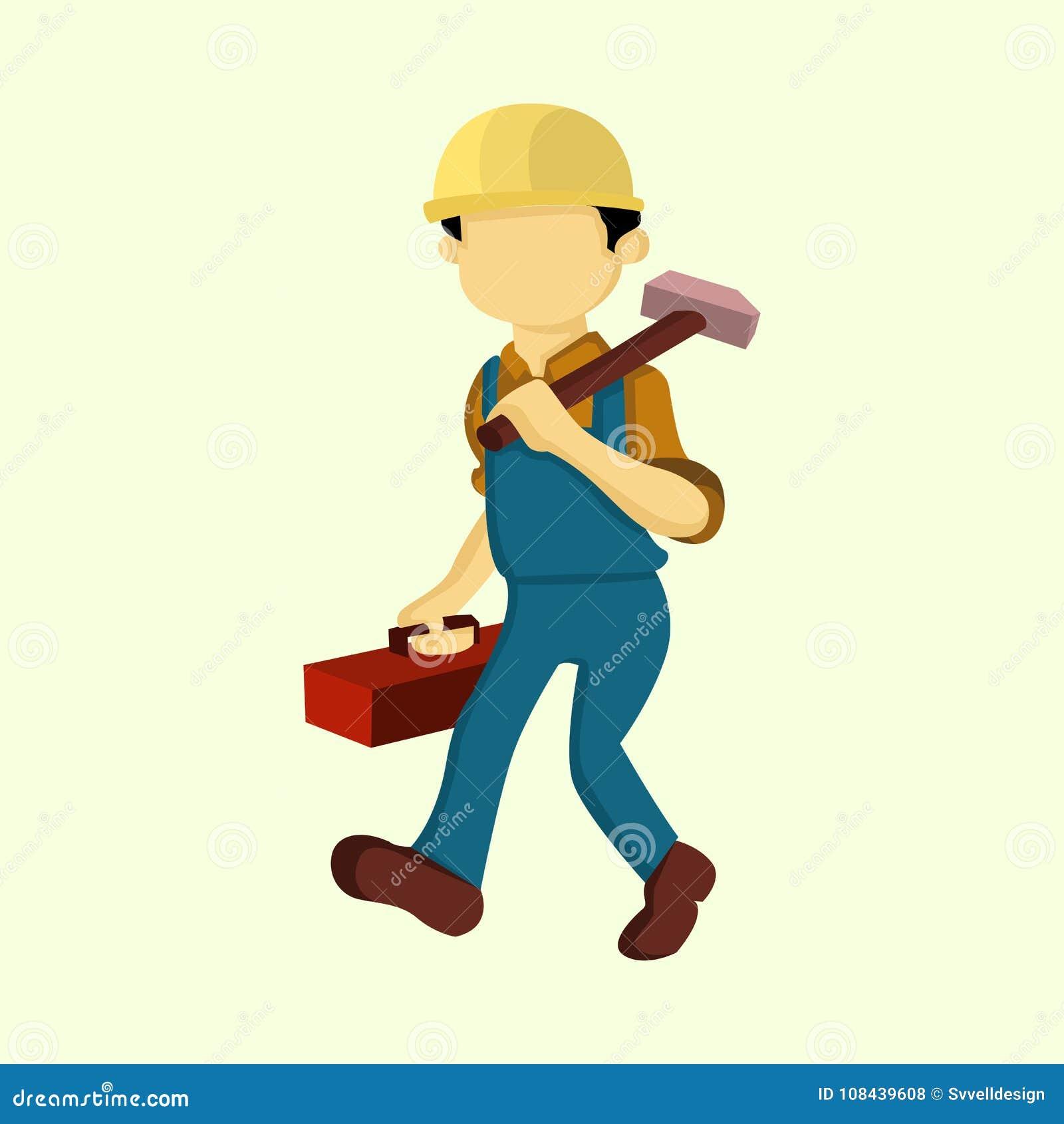 Repairman wektoru ilustraci Akcydensowi ludzie