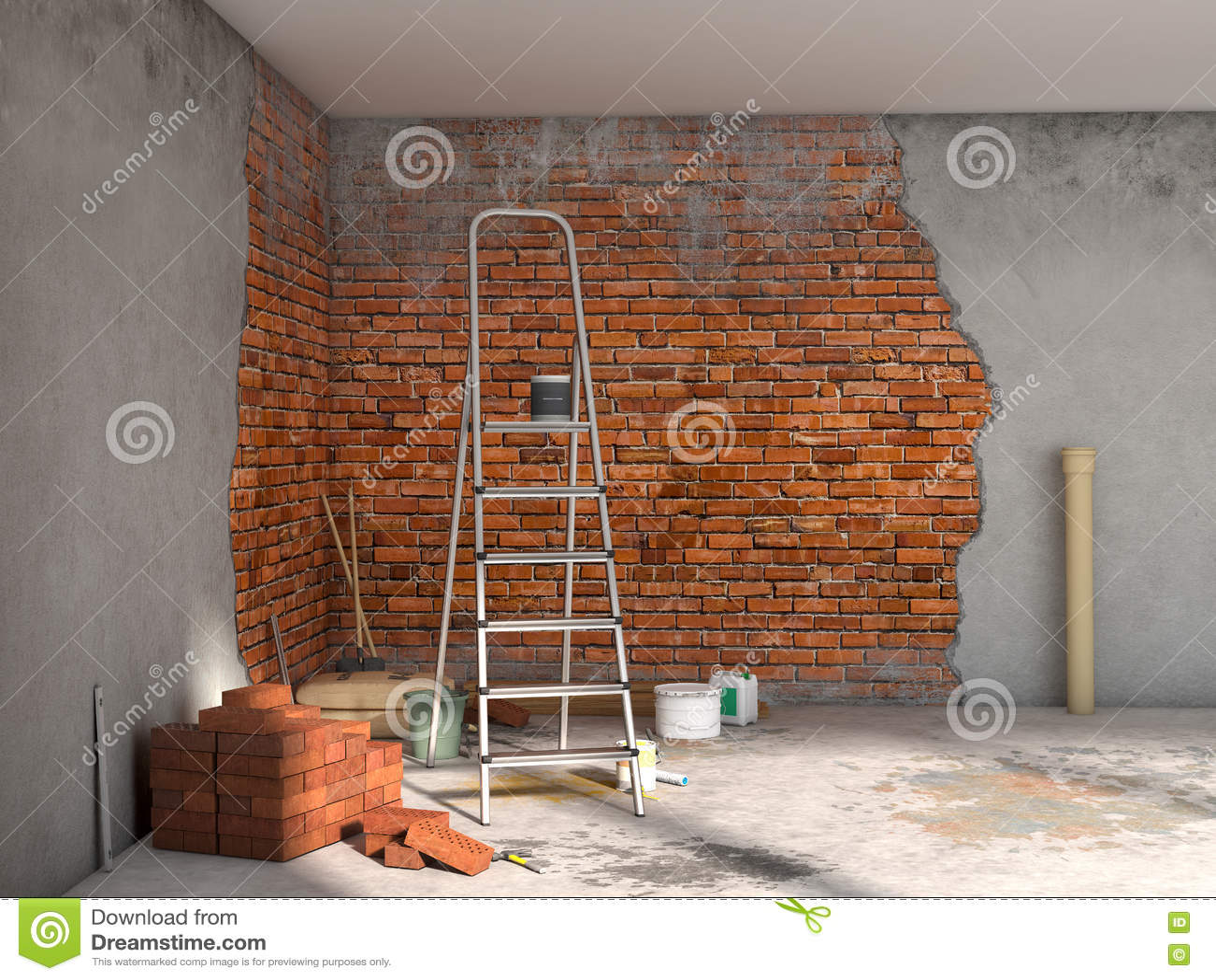 Repairs Room  Stock Illustration  Illustration Of Dirty