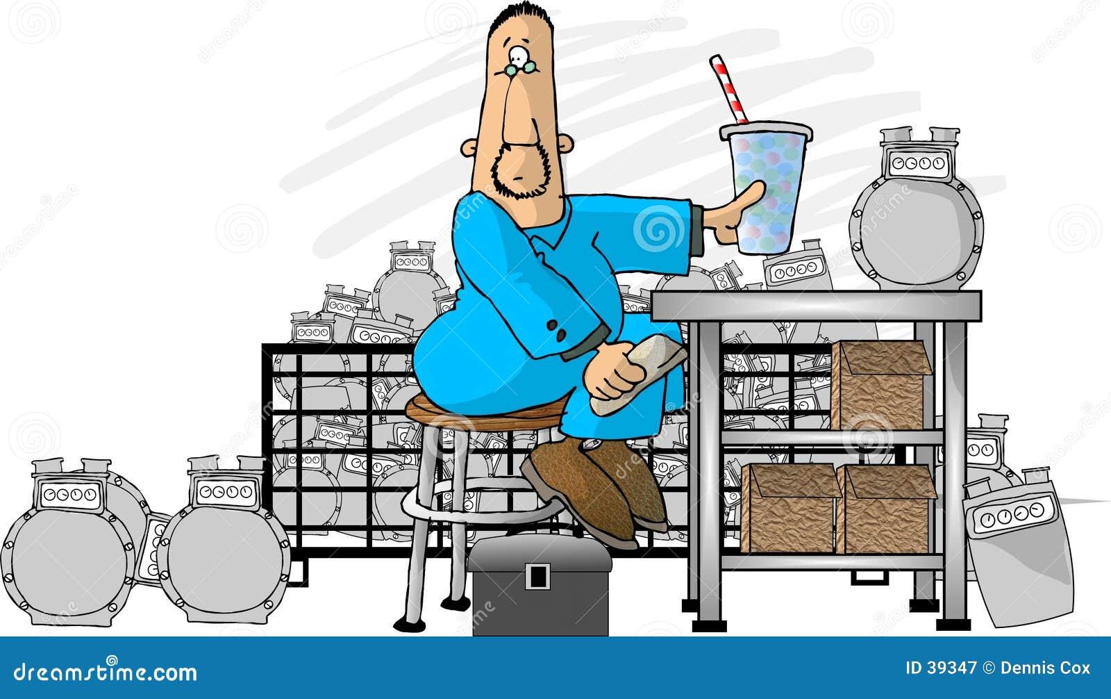 Download Reparación del contador stock de ilustración. Ilustración de divertido - 39347