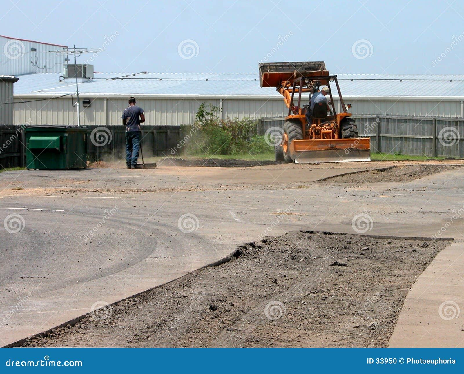 Download Reparación Del Estacionamiento Foto de archivo - Imagen de agujero, hombre: 33950