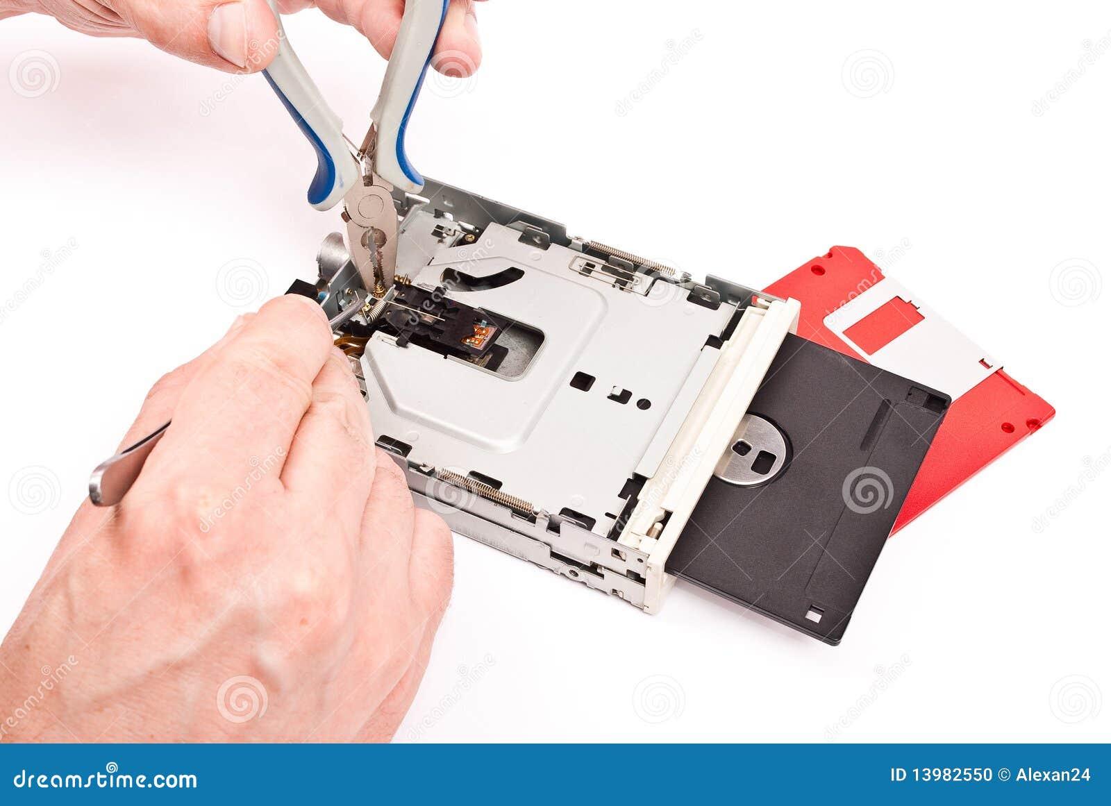 Reparación del mecanismo impulsor del disco blando