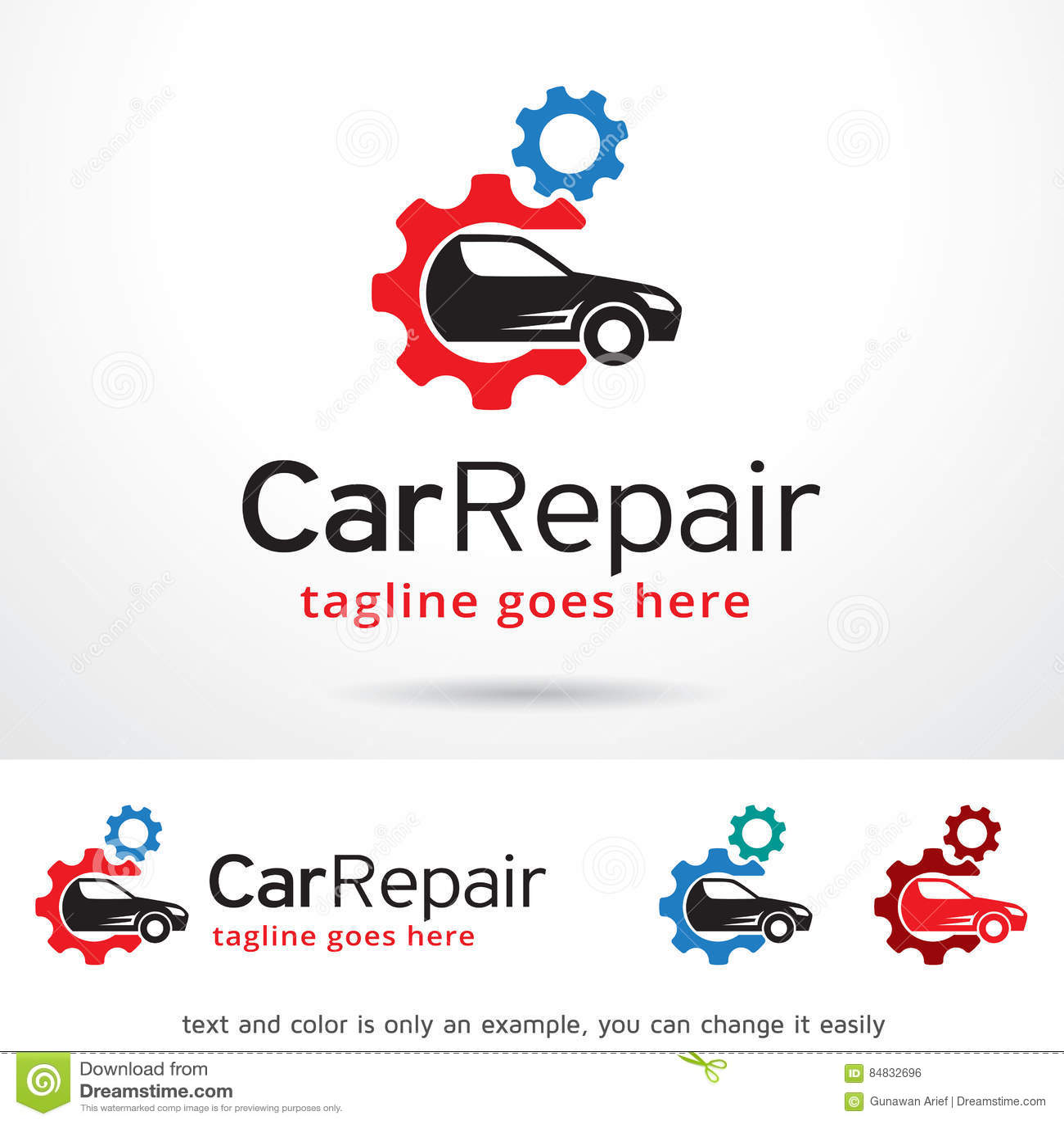 Reparación Logo Template Design Vector del coche