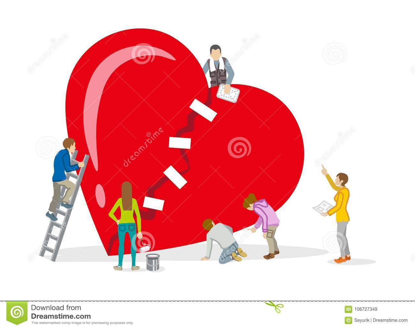 Reparation av hjärta - mental hälsabegreppskonst