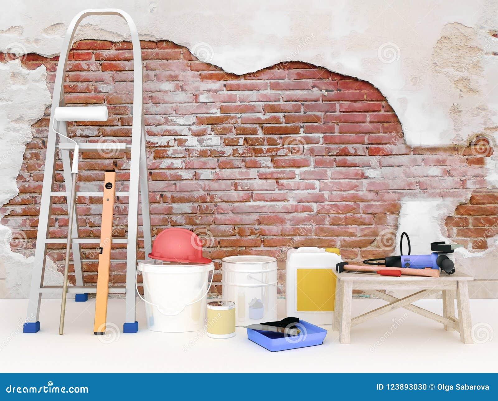 Wohnung Wand reparatur in der wohnung wand in einem hochbauhaus stockfoto - bild