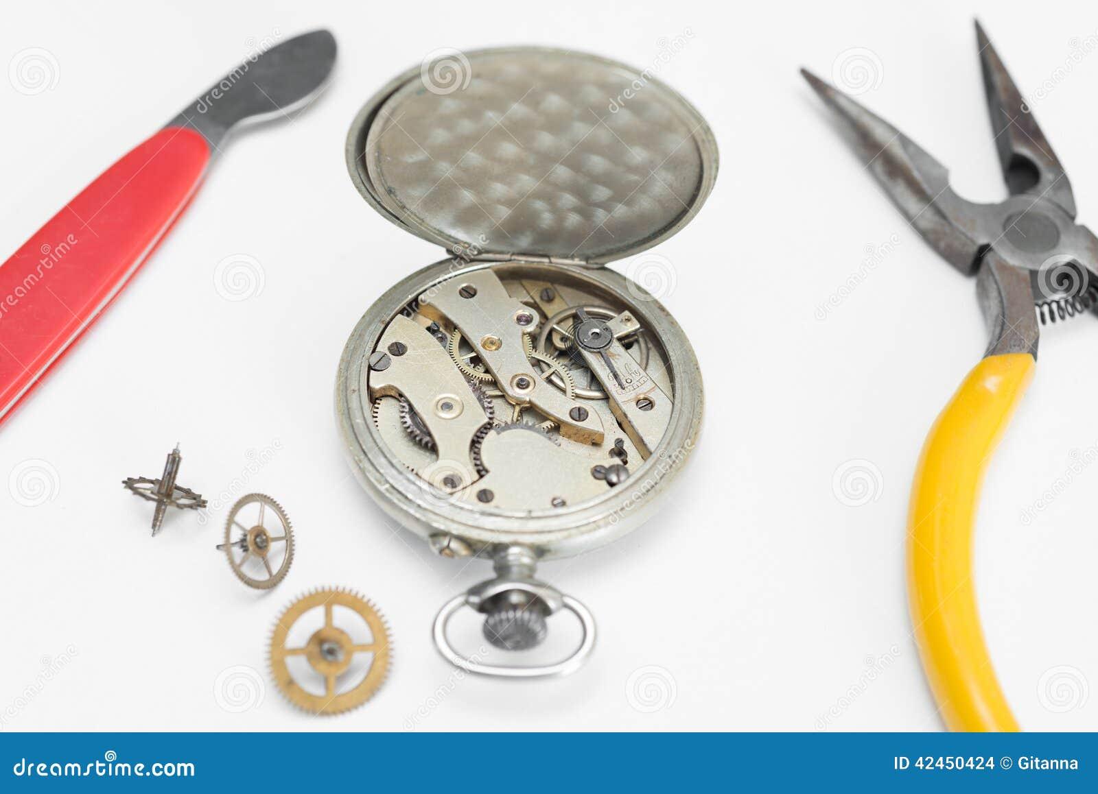 Reparatur von Uhren