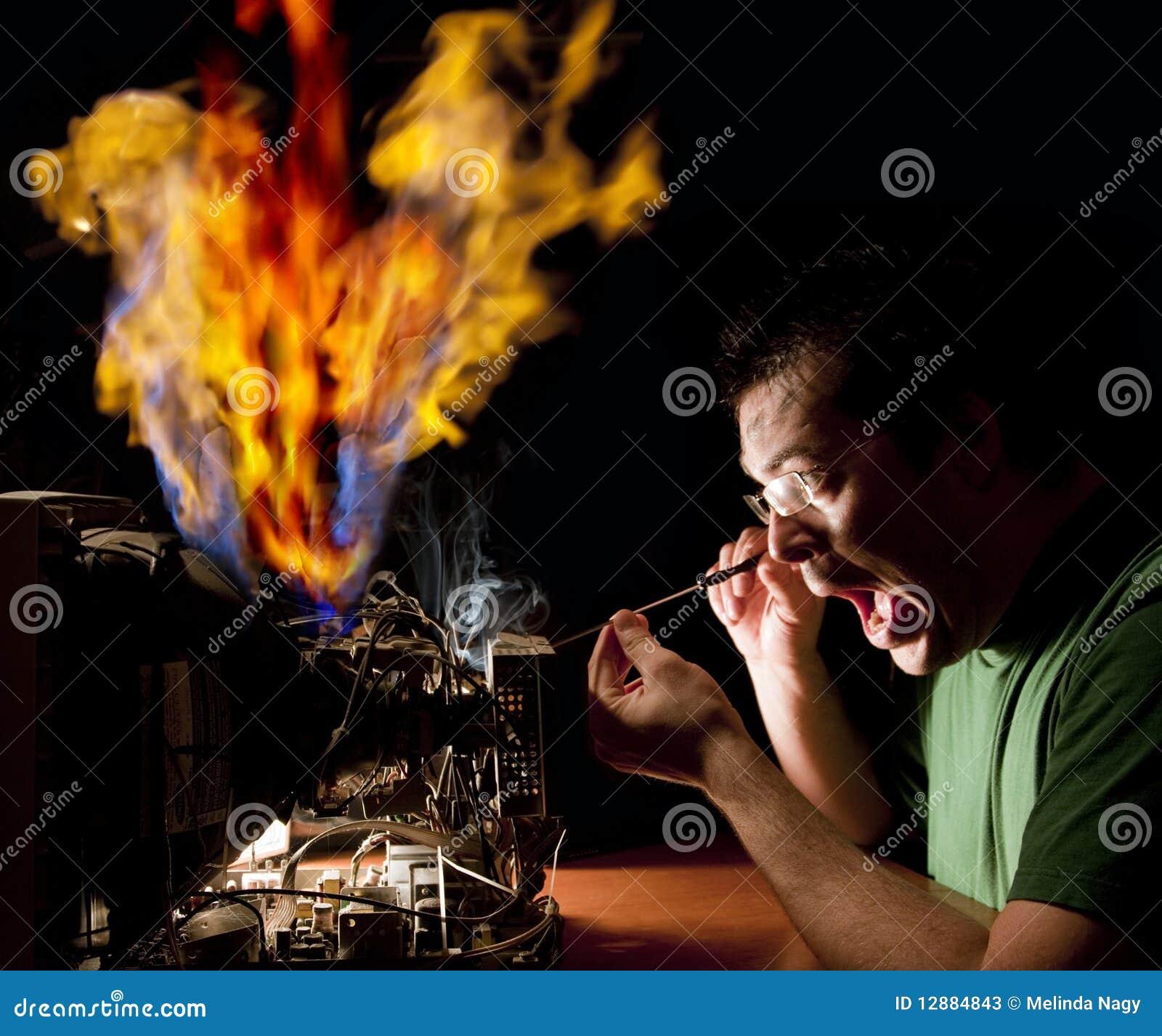 Reparera för datorbrandman