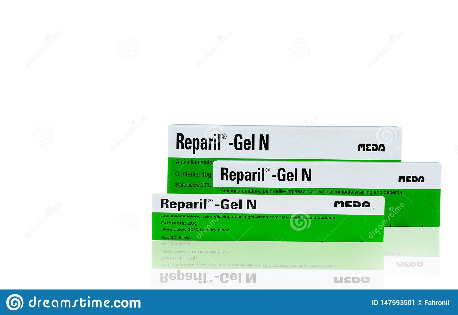 Reparil胶凝体N Aescin和二乙胺水杨酸胶凝体安多激动的,解除与膨胀交战的aescin胶凝体的痛苦