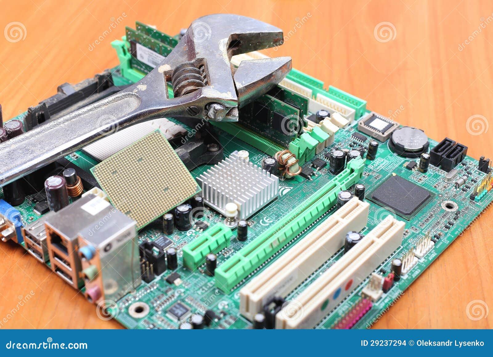 Download Reparo Seguro Do Computador Foto de Stock - Imagem de reparo, moderno: 29237294
