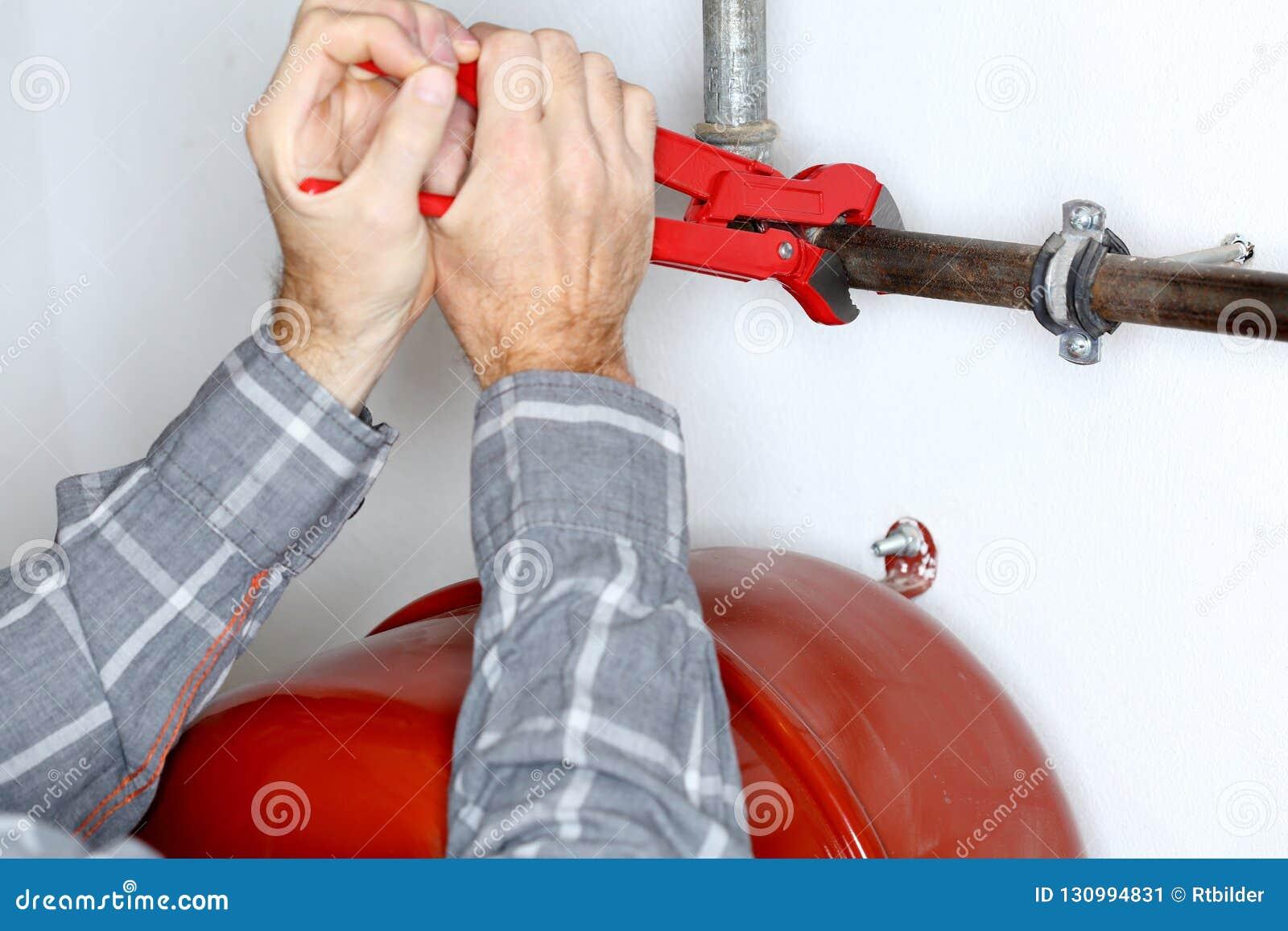 Reparos do trabalhador um aquecimento