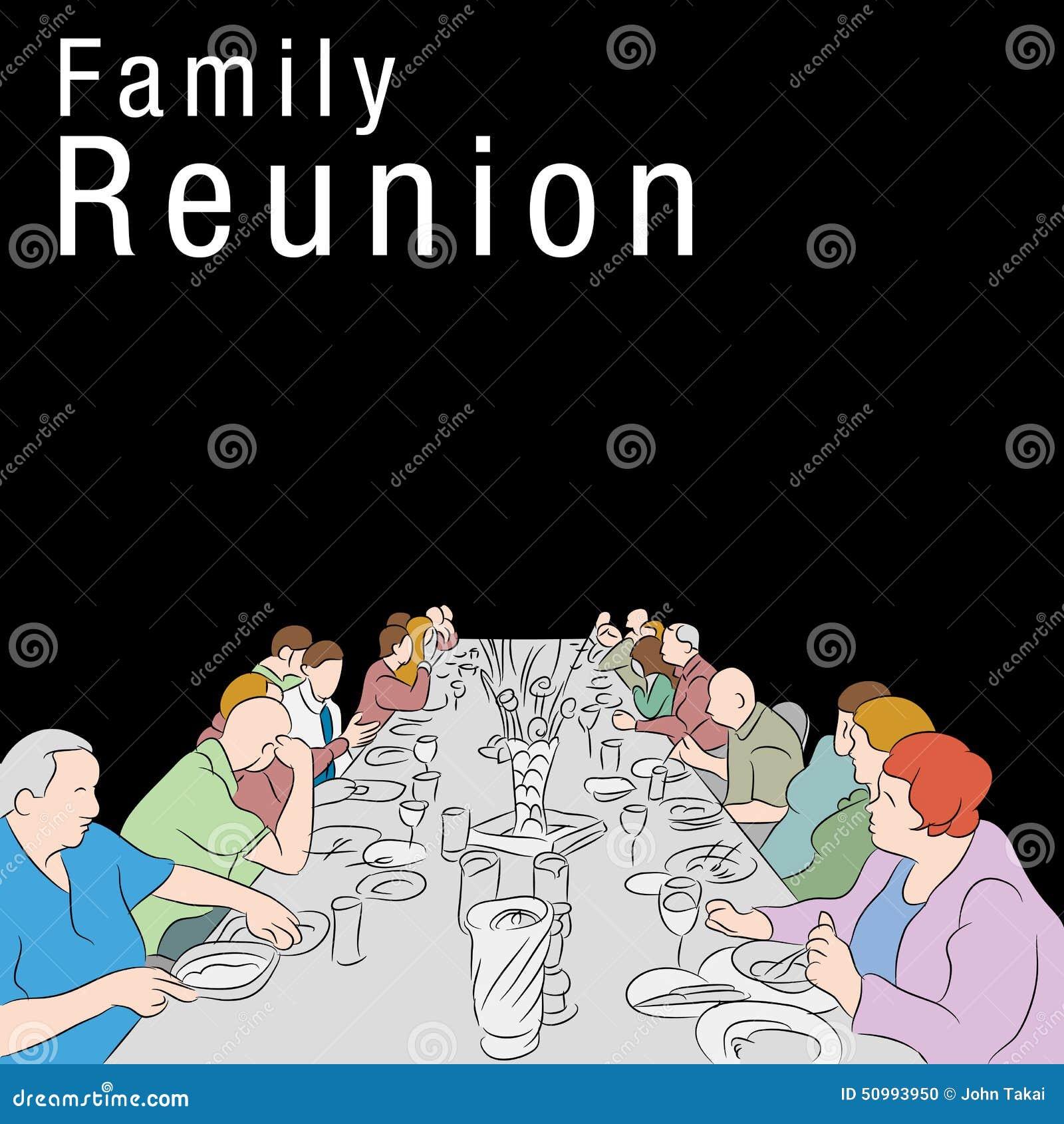 repas de la r union de famille illustration de vecteur illustration du nourriture. Black Bedroom Furniture Sets. Home Design Ideas