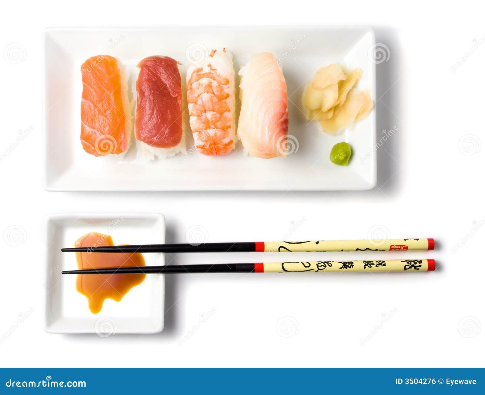 Repas de nigirisushi de série de sushi