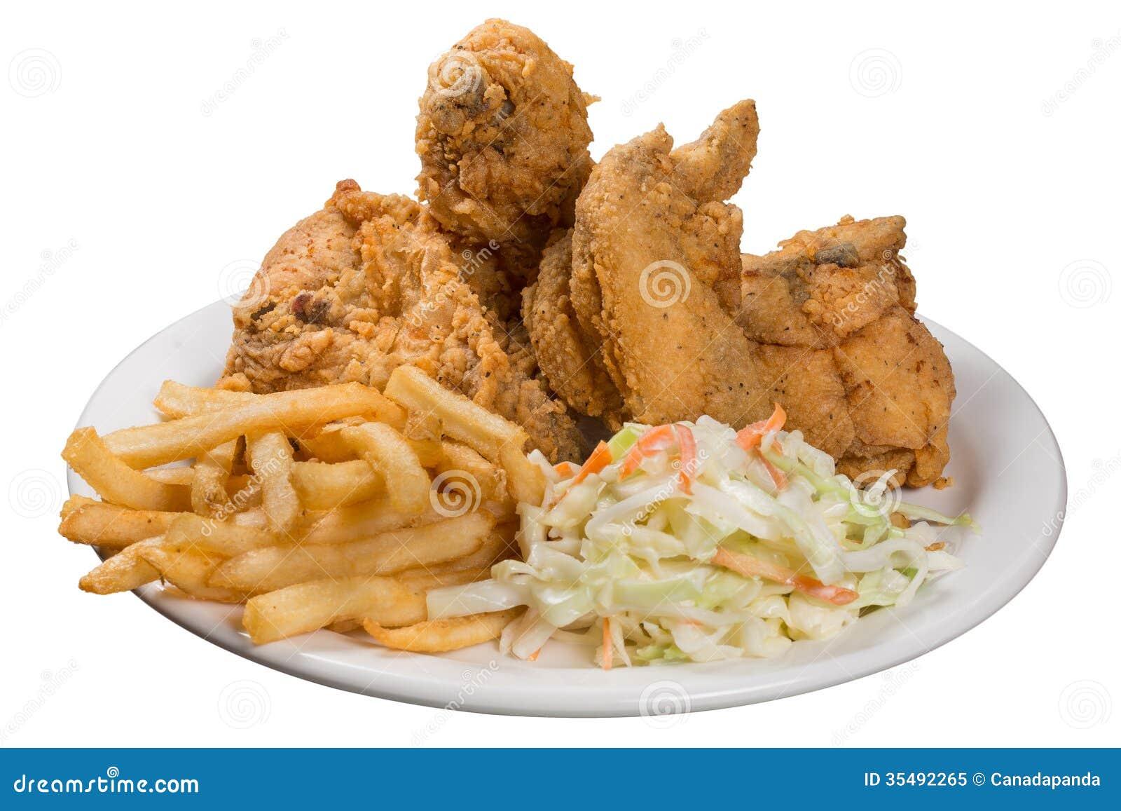 Repas de poulet frit